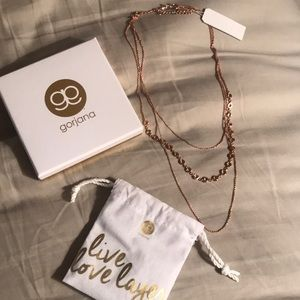 Gorjana layered rose gold necklace
